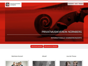 Screenshot www.privatmusikverein.de
